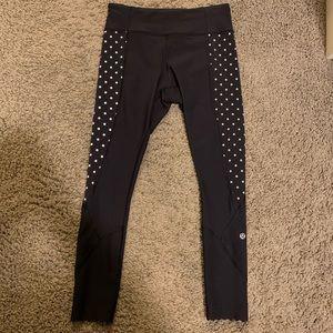 LuluLemon Black Leggings with pattern